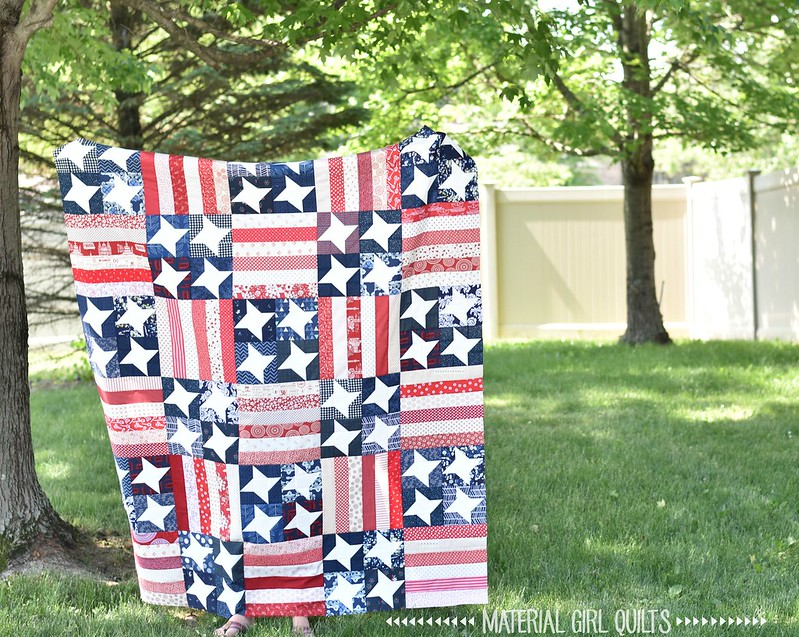 Flag Day Quilt by Amanda Castor of Material Girl Quilts