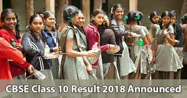 cbse class 10 result 2018 announced