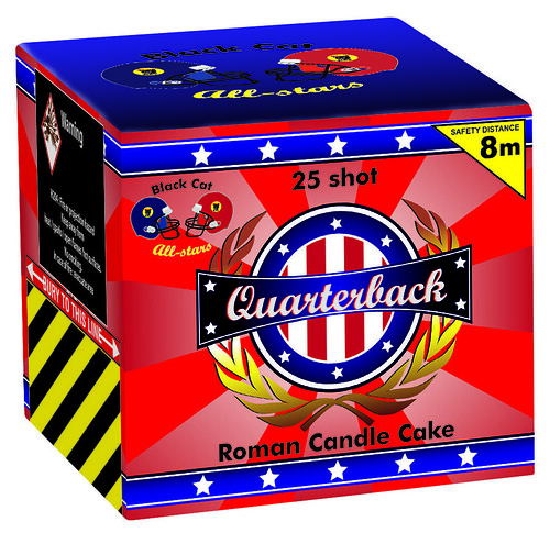 Quarterback 25 Shot Cake by Black Cat Fireworks