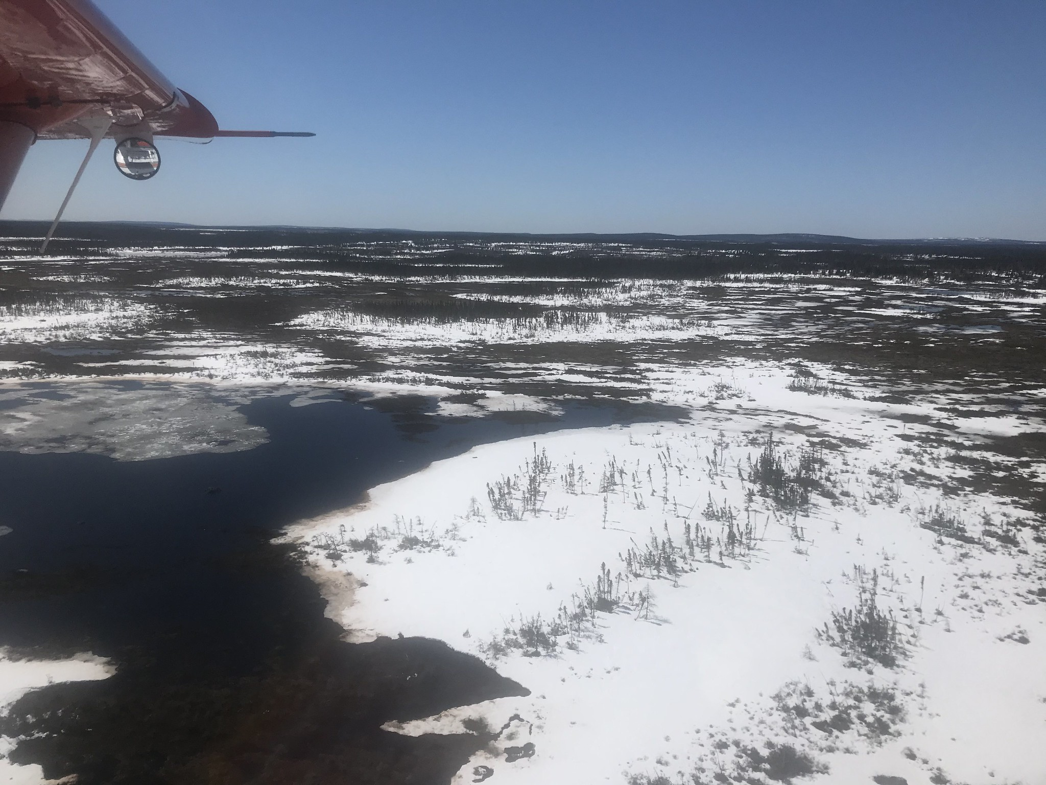 Recent ice out in central Labrador, May 2018 Photo Credit: USFWS
