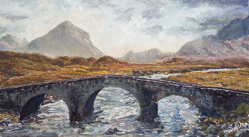 Gateway to the Cuillins. Artist Jan Clizer