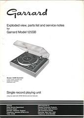 Garrard TechEng Service Manual 125SB