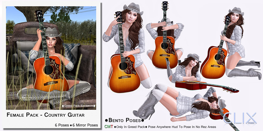 Clix Country Guitar Female Pack AD