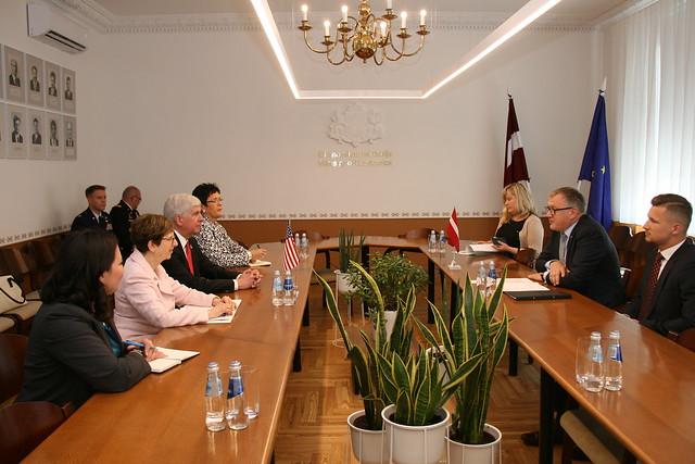 Ministru prezidenta biedra, ekonomikas ministra A.Ašeradena tikšanās ar Mičiganas pavalsts gubernatoru Riku Snaideru. 13.06.2018.
