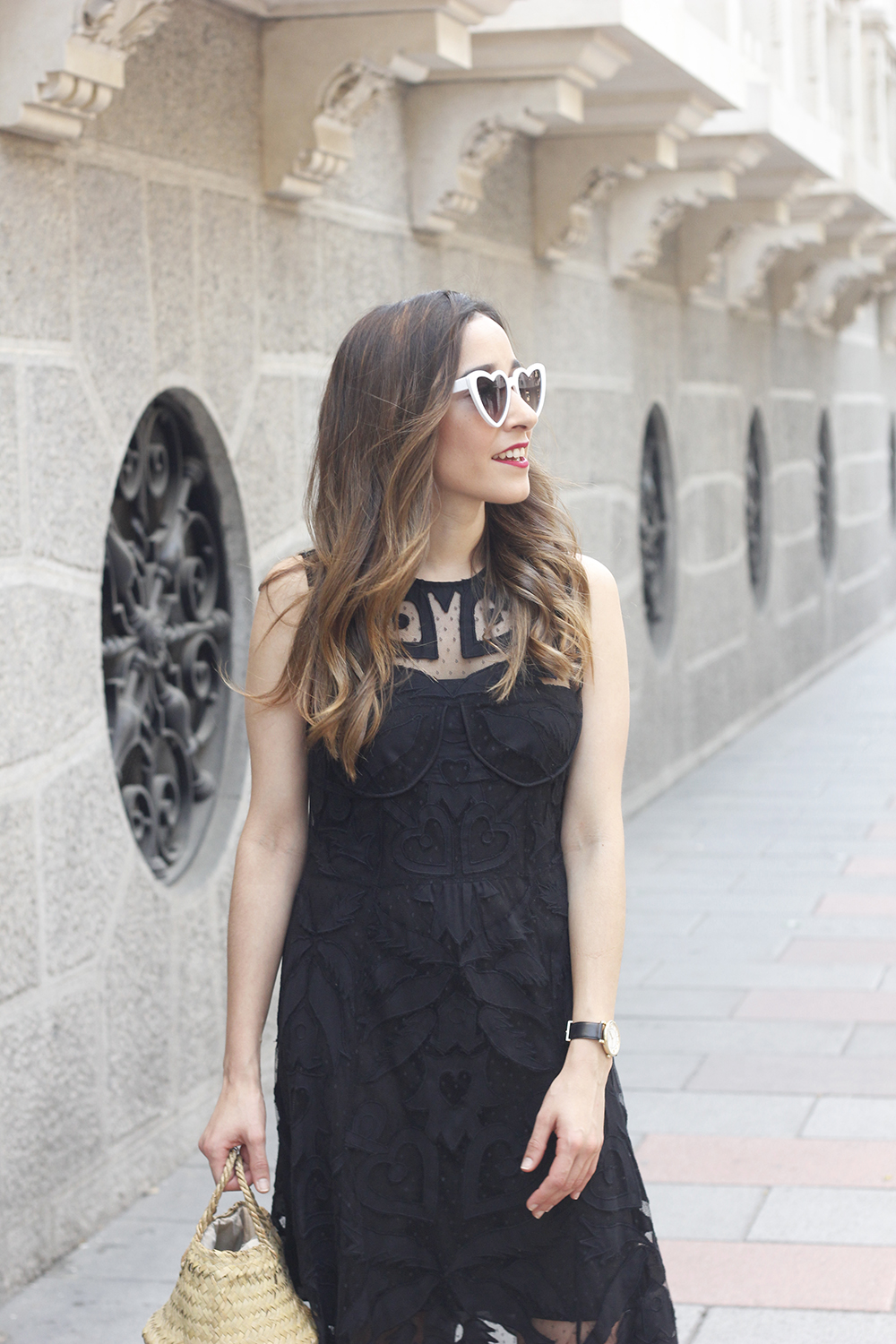 black lace maxi dress summer outfit 2018 08
