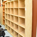 Large maple open bookcase E200