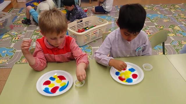 luz y color en la clase de 4 años