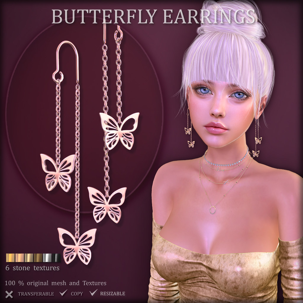 Butterfly Earrings (at The Liaison Collaborative )