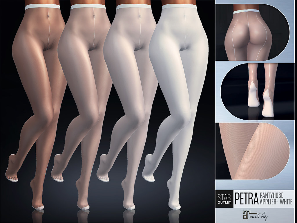 Star Outlet Pantyhose Petra White High Waist – Maitreya Applier