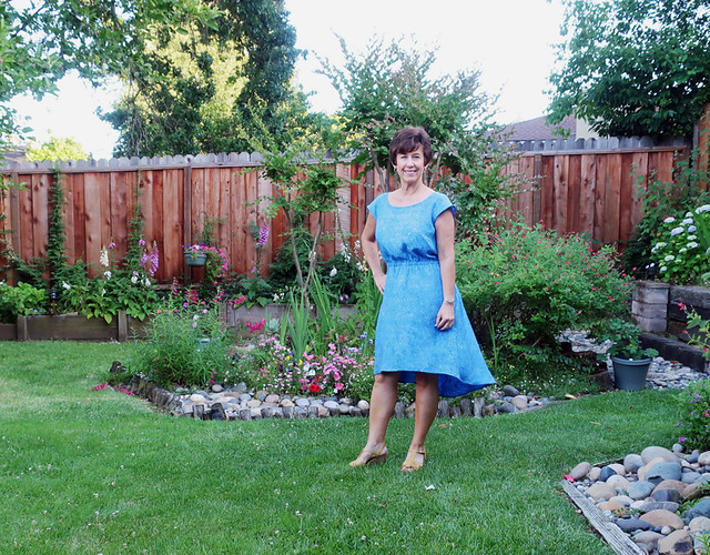 blue rayon dress front4