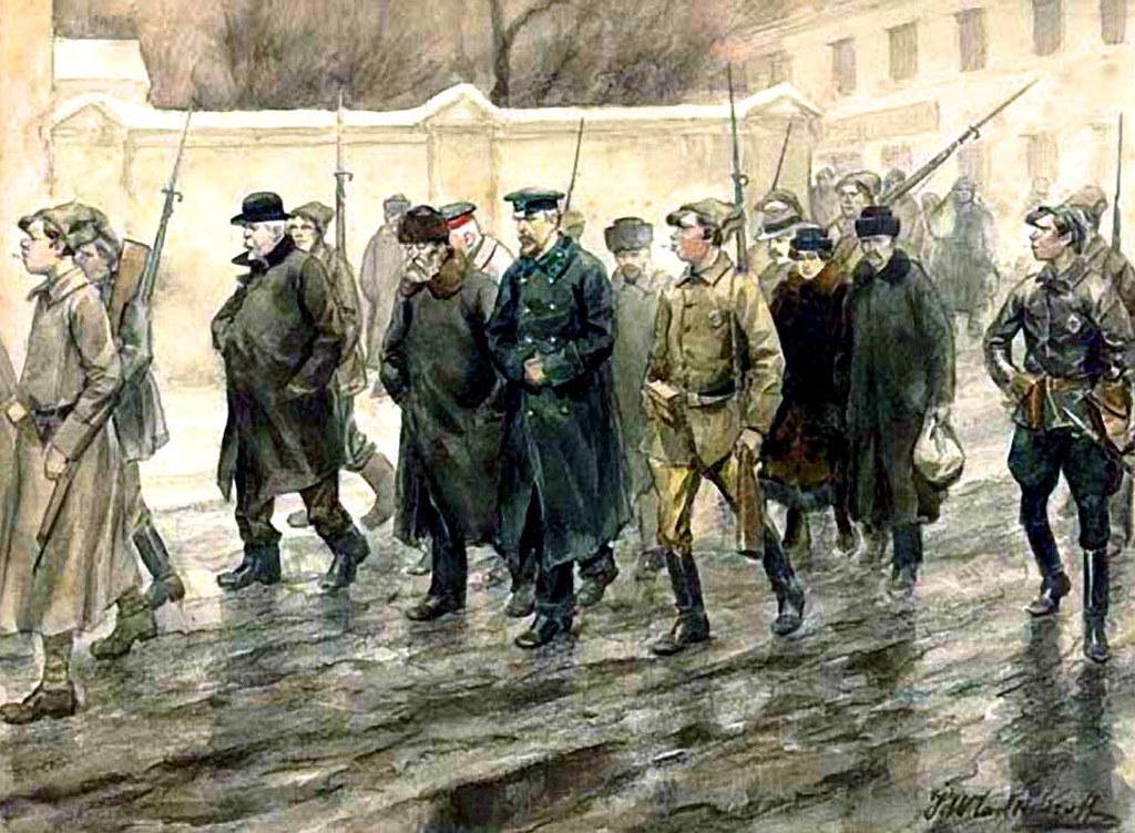 俄国内战与革命的写实绘画05