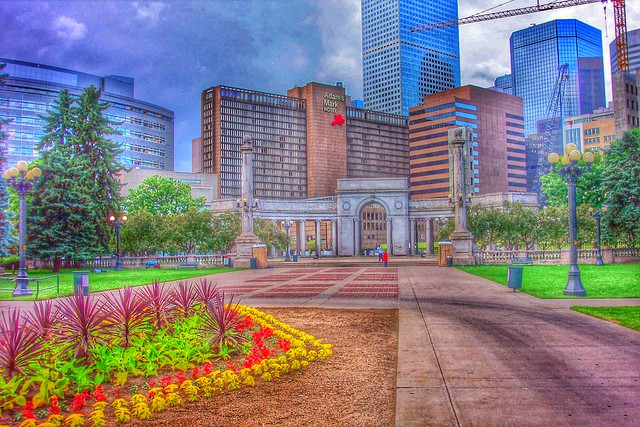 Denver Colorado ~  Civic Center Park View ~ View from Entrance to the State Capitol