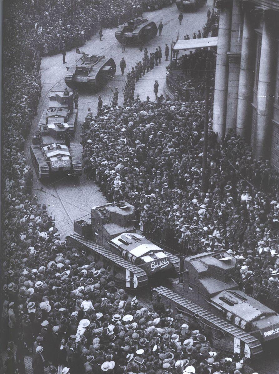Военный парад 19 июля 1919 года в Дублине