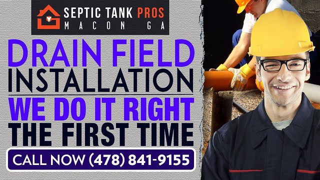 Drain Field Installation Jeffersonville GA | Call (478) 841-9155