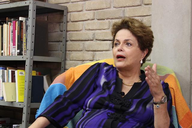 Dilma Rousseff visita a Escola Nacional Florestán Fernandes, em São Paulo, nesta segunda-feira (11) - Créditos: Foto: Leonardo Fernandes