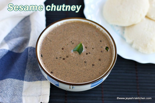 Sesame seedschutney recipe