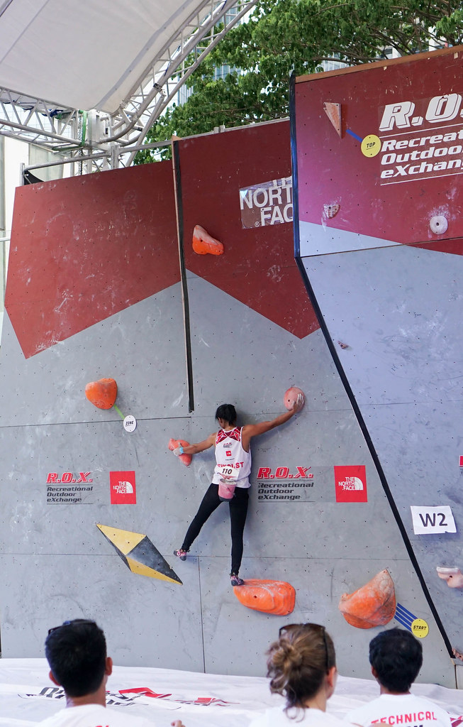 Team Indonesia, women's open finals, 2018 Zero Gravity International Bouldering Competition