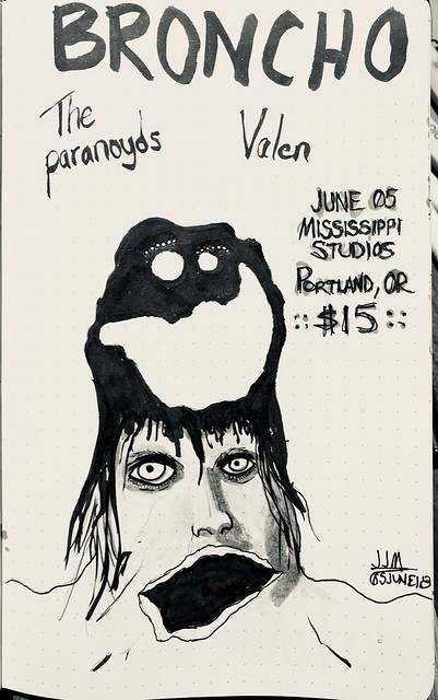 Valen & The Paranoyds & BRONCHO @ Mississippi Studios, Portland, OR, 05 June 2018