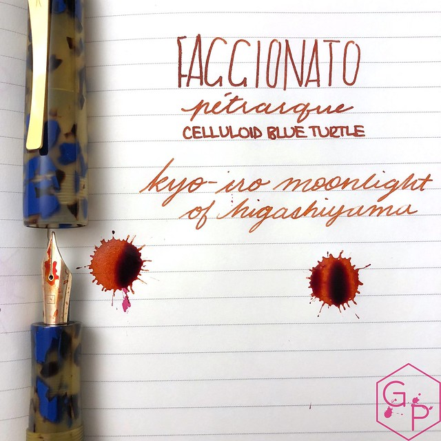 Faggionato Pétrarque King Size Celluloid Fountain Pen Review @couronneducomte 16