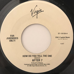 AFTER 7:HOW DO YOU TELL THE ONE(LABEL SIDE-A)