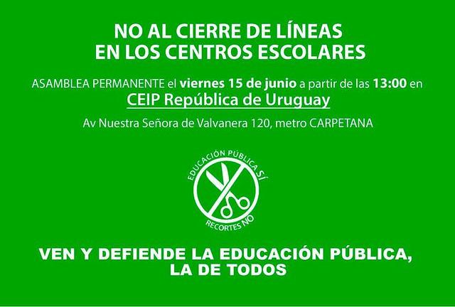 Cartel_Encierro_ColegioUruguay_ContraCierreLineaINfantil_15jun18