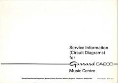Garrard TechEng Service Manual GA200