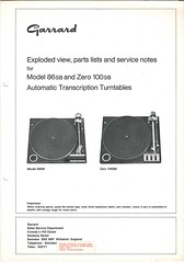 Garrard TechEng Service Manual 86SB Zero 100SB