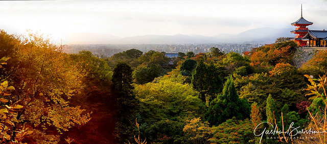 Kyoto from Kiyomitzu-Dera temple, Japan
