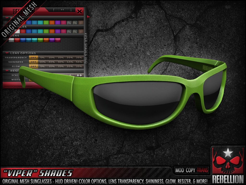 "= REBELLION = ""VIPER"" SHADES"