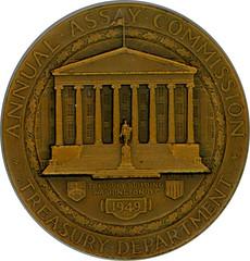 1949 Assay Medal reverse