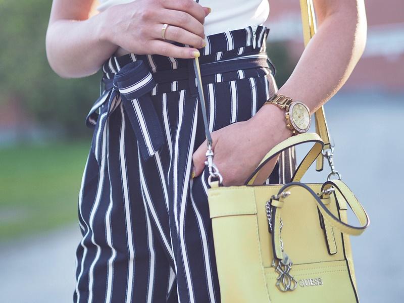 keltainen guess pikkulaukku