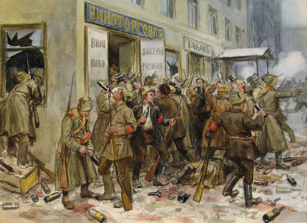 俄国内战与革命的写实绘画01