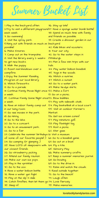 Summer Bucket List - 75 Fun Things To Do This Summer #summer #bucketlist #summerbucketlist
