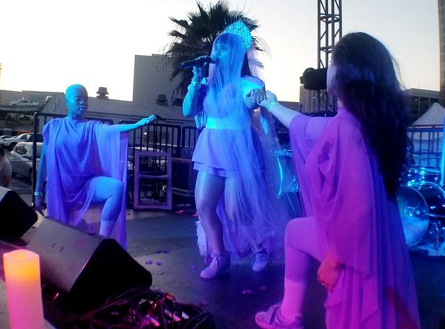 jarina Del Maro opens her act