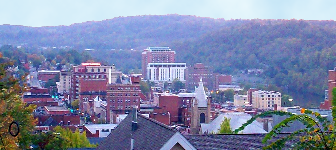 Downtown Morgantown, West Virginia, from North High Street. Photo taken in September 2010.