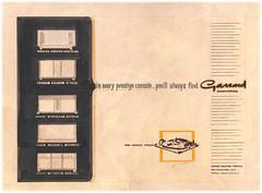 Garrard Adv Original campaign sketch for radiograms