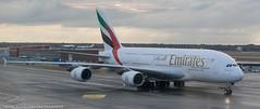 Emirates A-380 at FRA