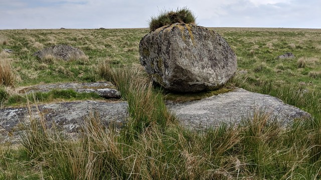 Boulder on Strane Tor, west outcrop