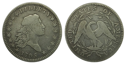Lot 298 - 1795 Flowing Hair Half Dollar