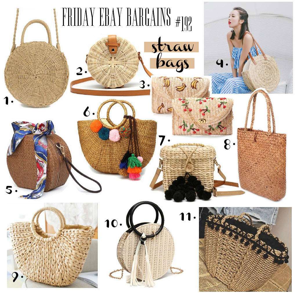 Best straw bags on eBay