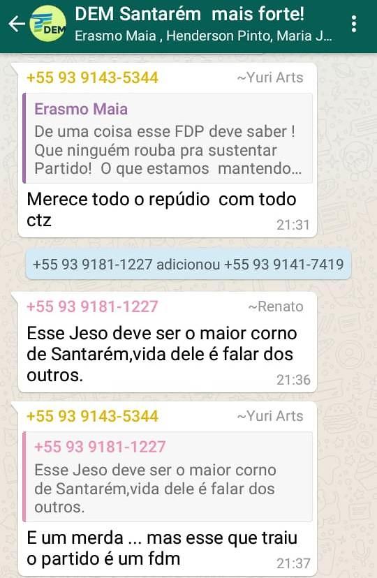 Grupo do DEM no WhatsAPP