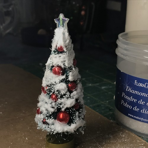 decorating bottle brush trees