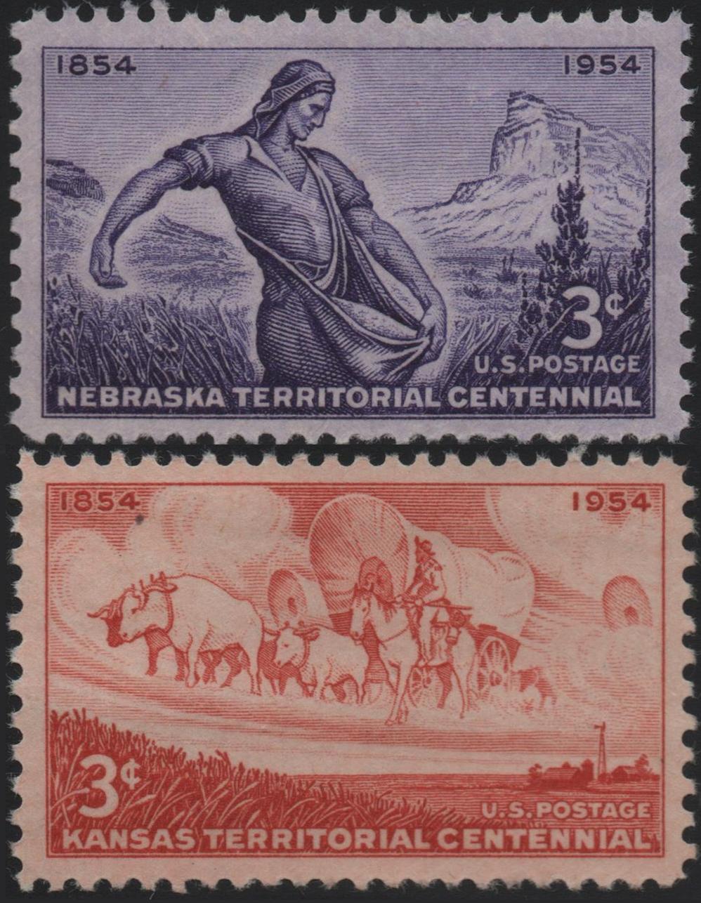 United States - Scott #1060-1061 (1954)