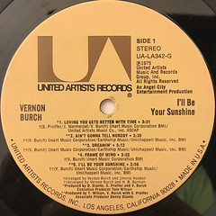 VERNON BURCH:I'LL BE YOUR SUNSHINE(LABEL SIDE-A)