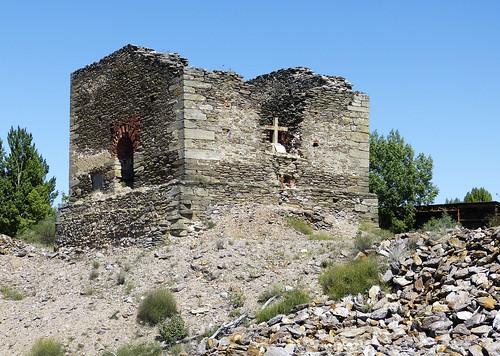 Restos de instalaciones mineras. Mina de San Carlos. Hiendelaencina (Guadalajara)