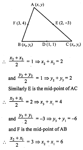 RD Sharma Class 10 Solutions Co-Ordinate Geometry Exercise 14.3