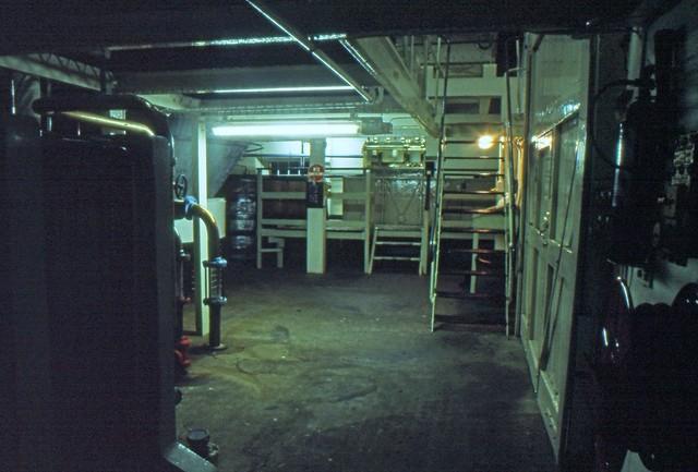 Brora Distillery on Closing Day, 1983 (Original Clynelish Distillery). Still Room, Ground Floor. (T)