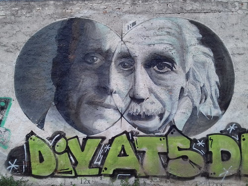 Constantin Carathéodory - Albert Einstein on a wall