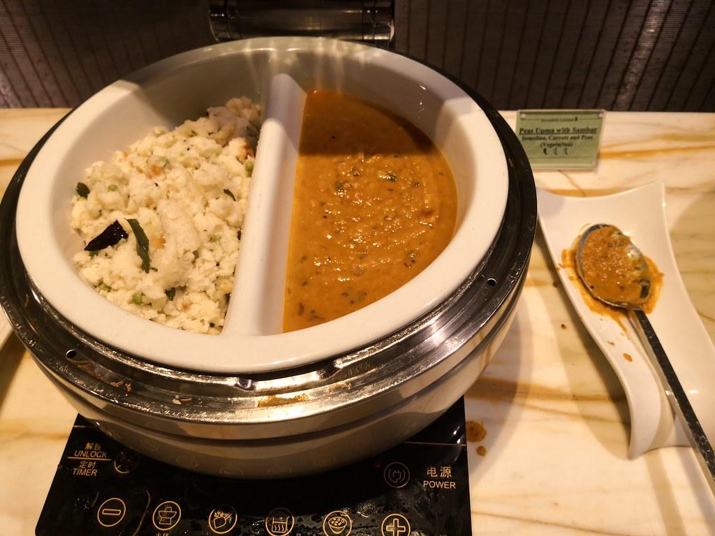 Peas upma and vegetarian cuisine