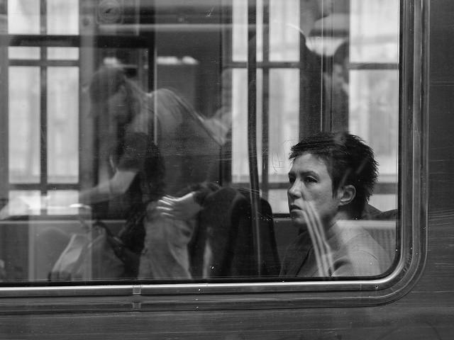 Woman on train, Fujifilm X-T2, XF16-55mmF2.8 R LM WR